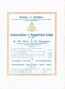 Lodge Consecration Summons